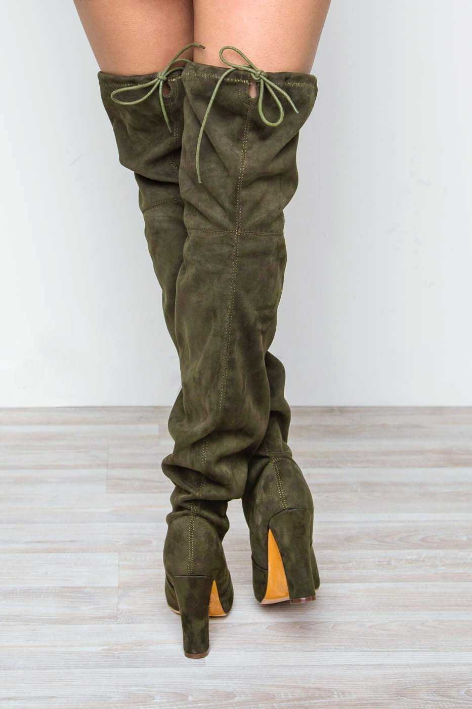 a53539815f0 ... Boots - Showdown Thigh High Boots - Olive ...