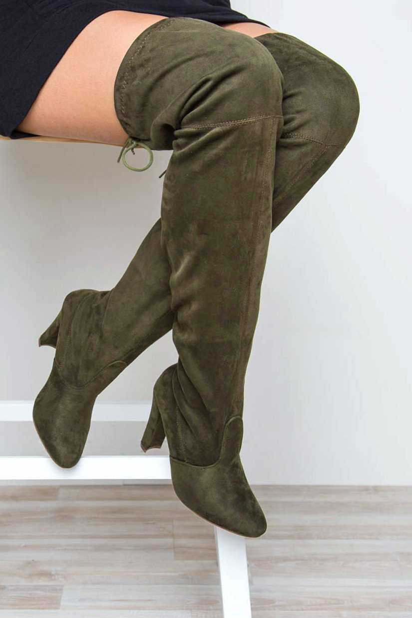 22a4d506442 Boots - Showdown Thigh High Boots - Olive ...