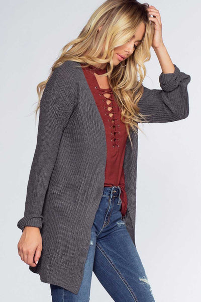 Cardigans - Brigitte Cardigan - Heather Gray