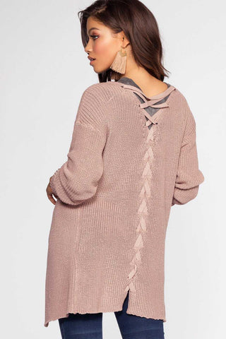 Carrie Striped Knit Cardigan