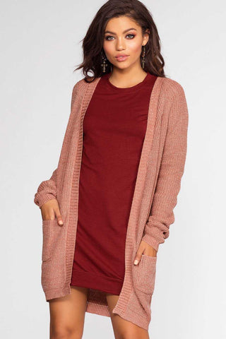 Sunset Vista Cardigan - Burgundy