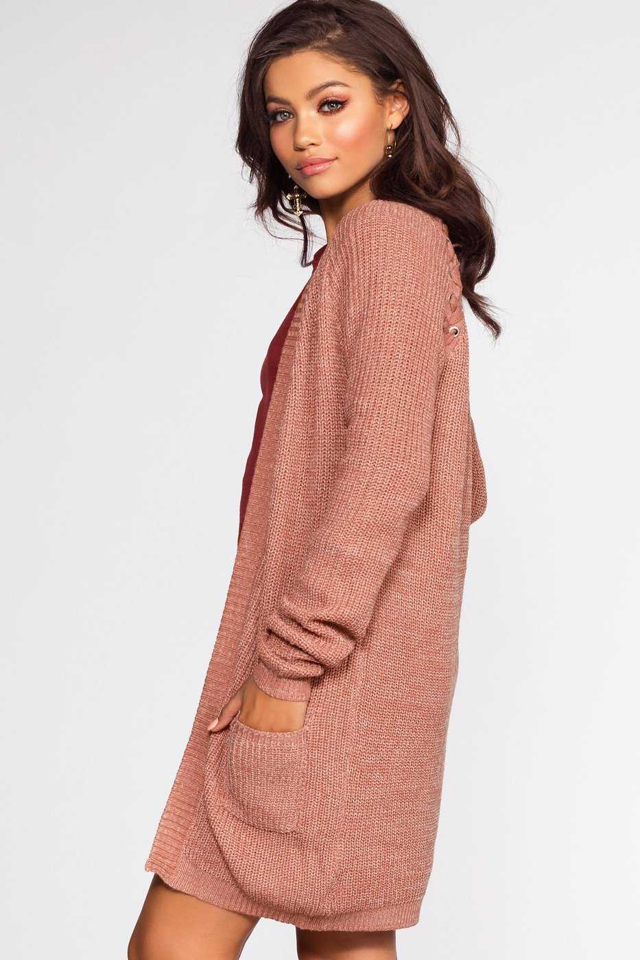 Cardigans - Caught In The Breeze Cardigan - Mauve