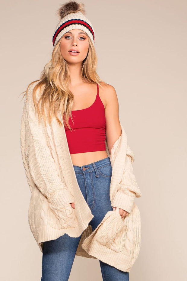 Ivory Oversized Cardigan Sweater