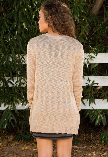 Cardigans - Dulcet Knit Cardigan - Taupe