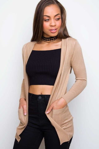 Brinley Black Twist Crop Top