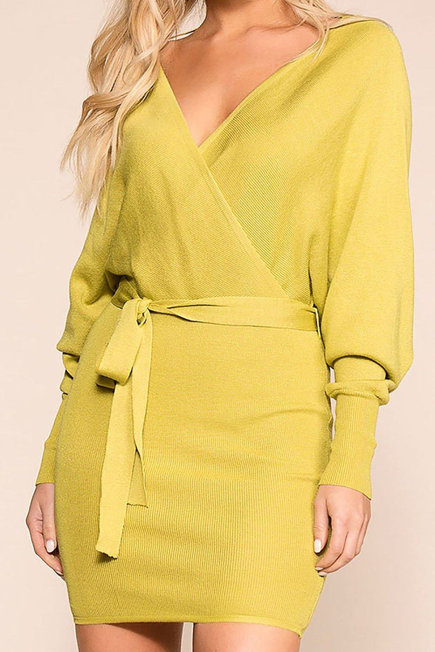 Dress To Impress Lime Wrap Dress