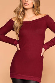 My Way Burgundy Sweater Tunic
