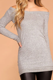 My Way Heather Grey Sweater Tunic