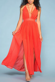 Crisom Maxi Dress - Red