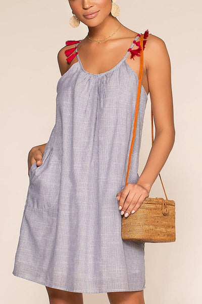 Castaway Nautical Stripe Dress | Papermoon