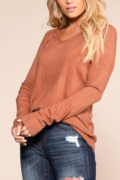 Coffee Break Brick Long Sleeve Top | Be Cool