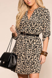 Hunter Leopard Swing Dress | Entro
