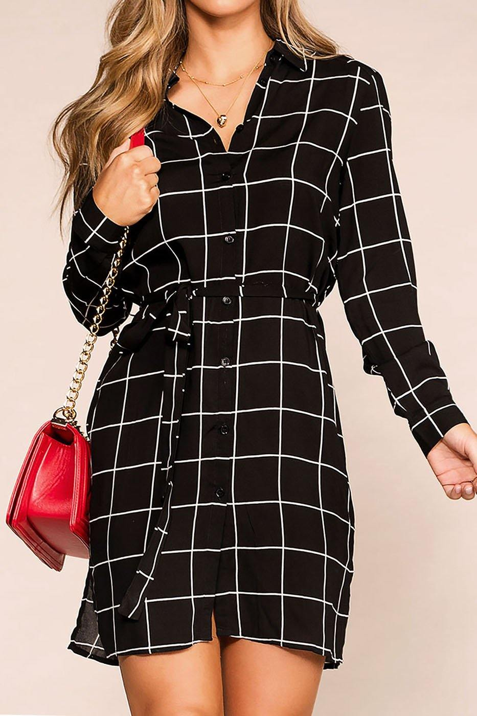Marge Black Dress | Mosaic & Co
