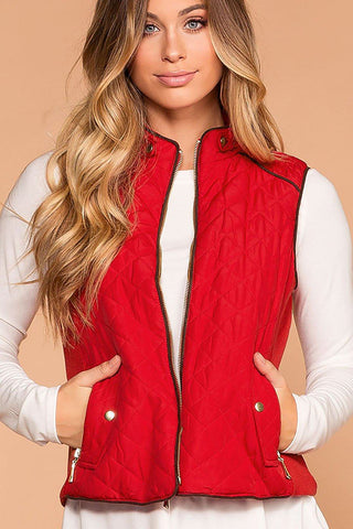 Pinetop Quilted Vest - Burgundy