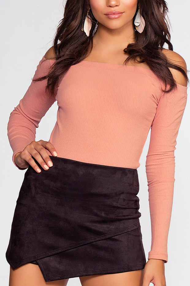 Just Right Off The Shoulder Top - Mauve | Ambiance
