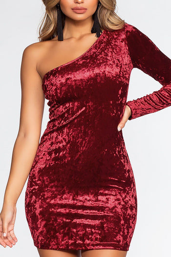 Raquel Velvet Dress - Burgundy | Active Basic