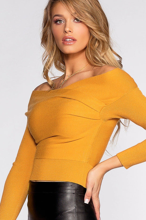 Wrapped In Love Sweater - Mustard | Hers & Mine