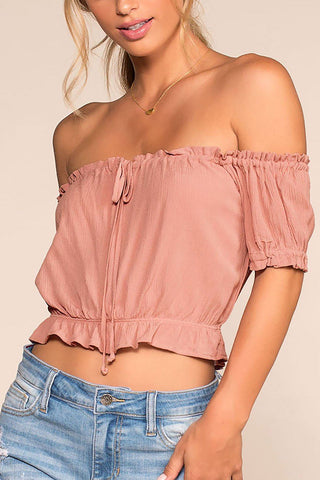 Beverly Off The Shoulder Top - White