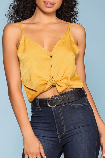 Lakeside Button Tie-Front Top