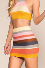 Mandy Stripe Knit Skirt | Shop Priceless