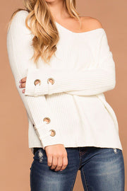 Mia Ivory Knit Sweater | Active Basic