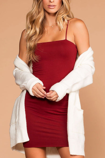 Alisa Burgundy Bodycon Dress | Active Basic