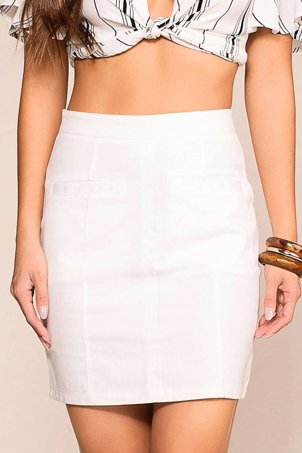 Nina White Skirt | Listicle