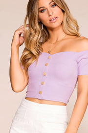 Birdie Lavender Off The Shoulder Top | Mezzanine