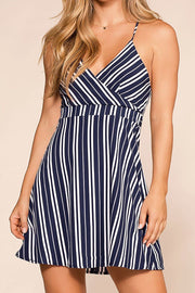 Merida Navy Striped Sun Dress | Hyfve