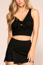 A Little Sunshine Black Crop Top | Mezzanine