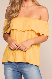 Alley Off The Shoulder Top - Honey | Hyfve
