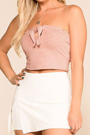 Anya Blush Striped Crop Top | Hearts & Hips