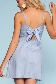 Avalon Perfect Tie-Back Dress - Blue | Hyfve