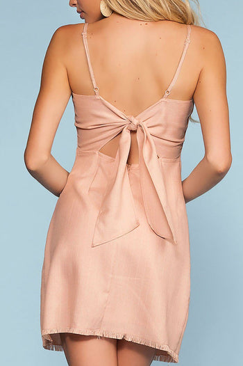Avalon Perfect Tie-Back Dress - Blush | Hyfyve