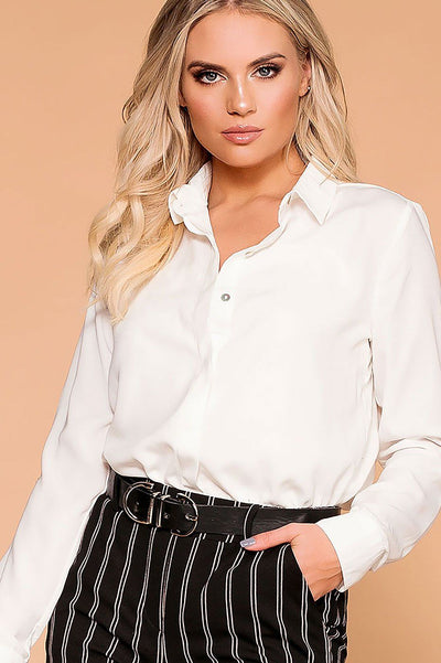 Busy Bee Ivory Button Down Top | Be Cool