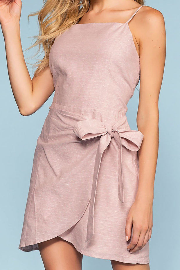 Cassi Wrap Front Dress - Mauve | Hyfve