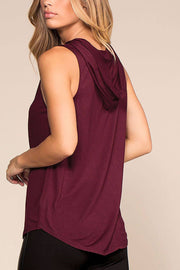 Casual Sunday Hoodie Top - Burgundy | Ambiance