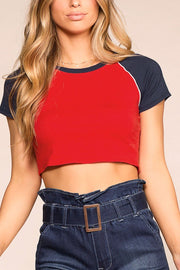 Corynne Red Crop Top