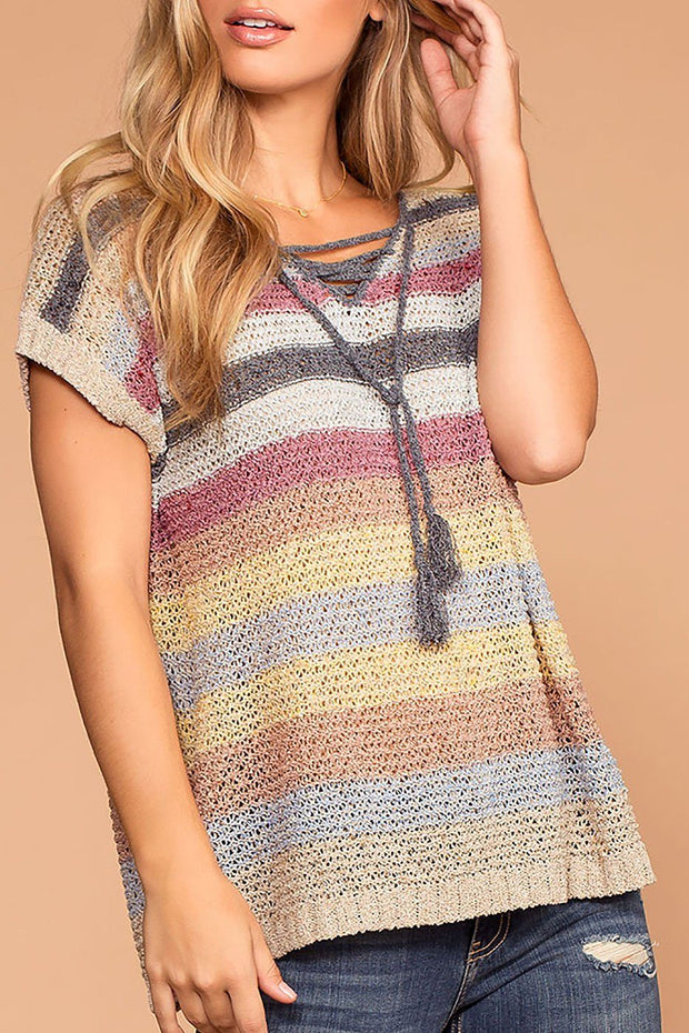 Cozy Casual Stripe Knit Sweater