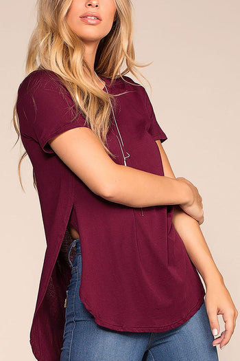 Easy Goes It Top - Burgundy | Ambiance