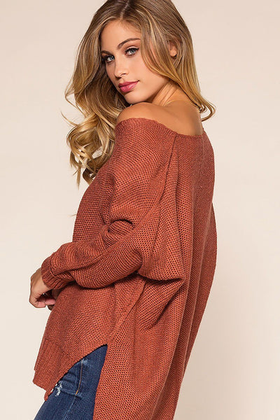 Ethel Sweater - Brick, Brick, , Main Strip