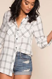 Farrah Plaid Top