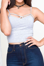 Genie Crop Top - Gray