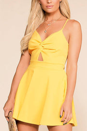 Got A Crush Yellow Skater Dress | Lovely Day