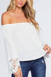 Lexi Off The Shoulder Top - White | Ambiance