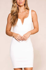 Lovely Rita White Bodycon Dress | Shop Iris Basic