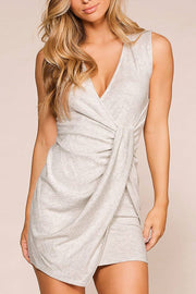 Luella Heather Grey Twist Mini Dress | Fascination