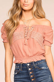Michelle Mauve Off The Shoulder Top | Ambiance Apparel