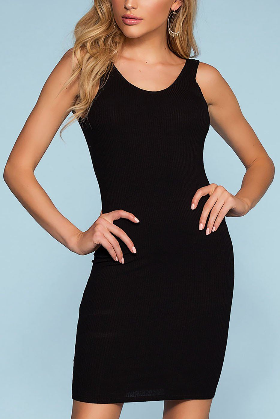 Misty Bodycon Dress - Black | Mono B