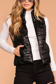 Night Sky Black Puffy Vest